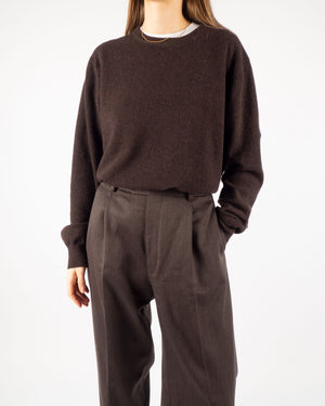 Brown Lambswool Knit