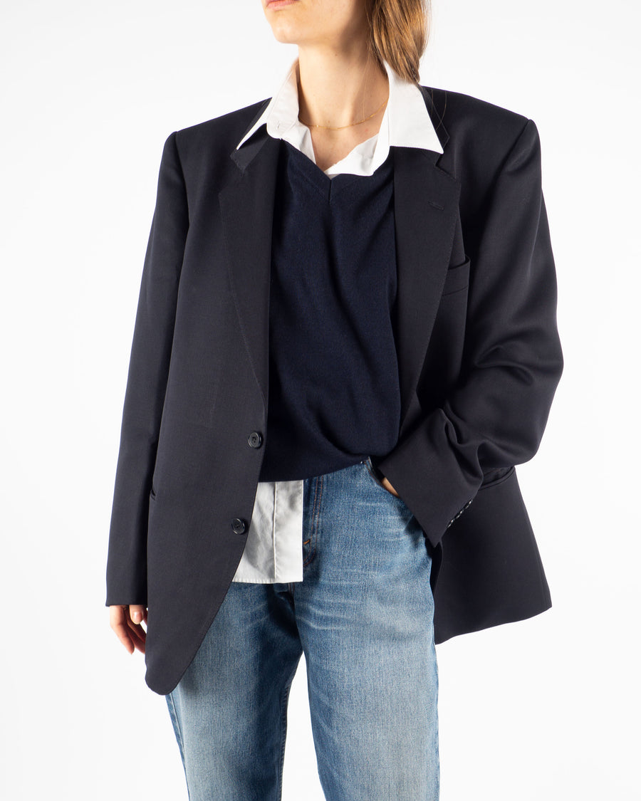 Midnight Wool Blazer