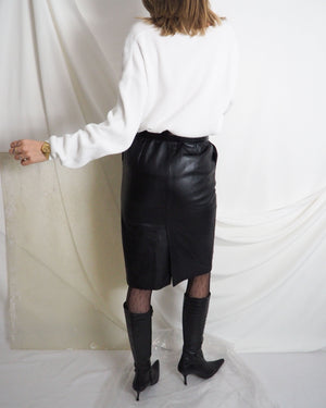 Leather Pencil Skirt - Untitled 1991