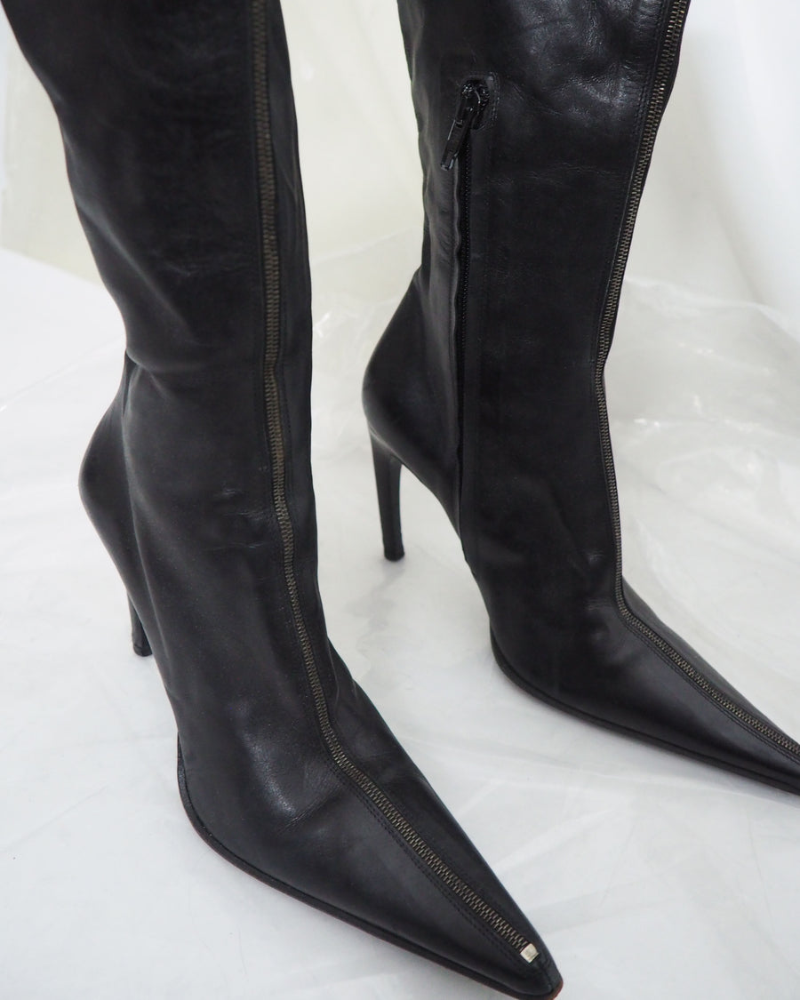 Black Leather Boots - Untitled 1991