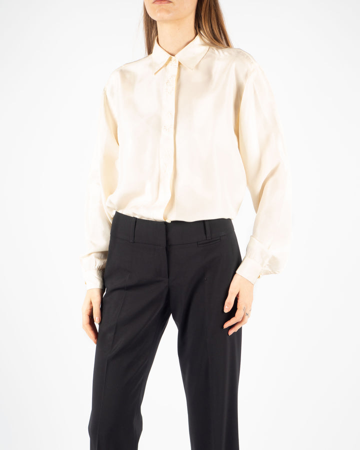 Silk Ecru Blouse