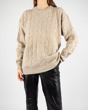 Beige Lambswool Knit