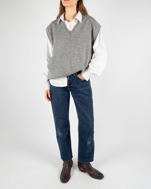 Gray Knitted Vest