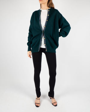 Green Knitted Cardigan