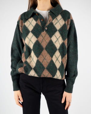 Argyle Polo Knit