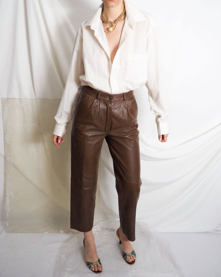 Caramel Leather Pants - Untitled 1991