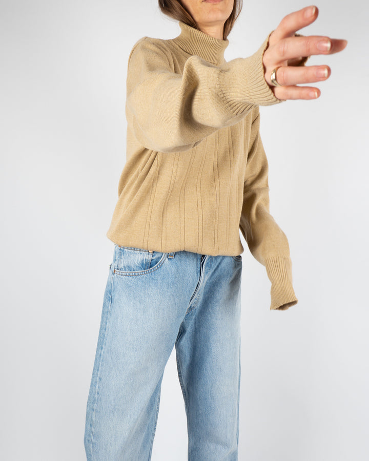 Tan Knitted Turtleneck