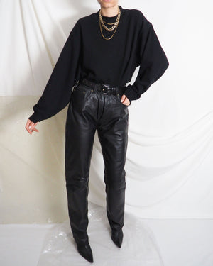 Black Leather Pants - Untitled 1991