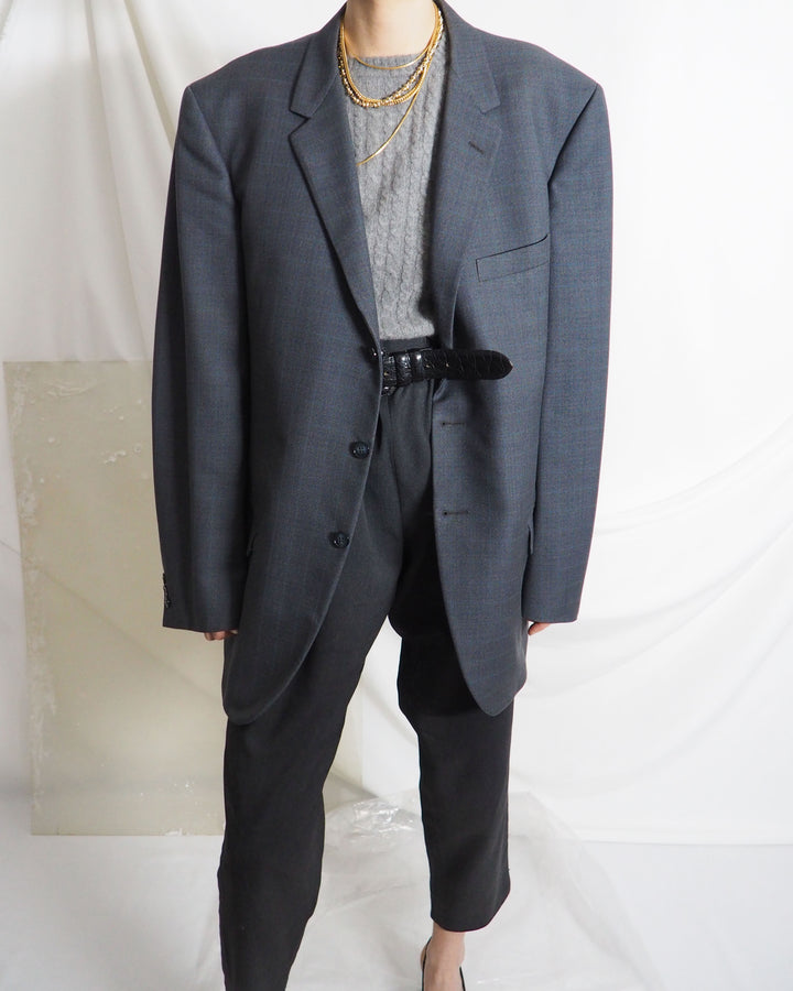 Gray Wool Blazer - Untitled 1991