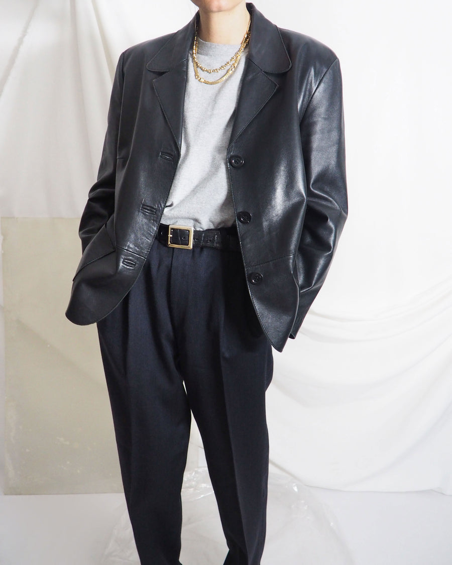 Black Leather Blazer - Untitled 1991