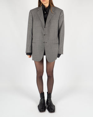 Gray Wool Blazer