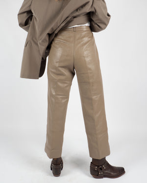 Tan Leather Pants