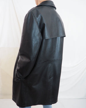 Leather Trench Coat - Untitled 1991