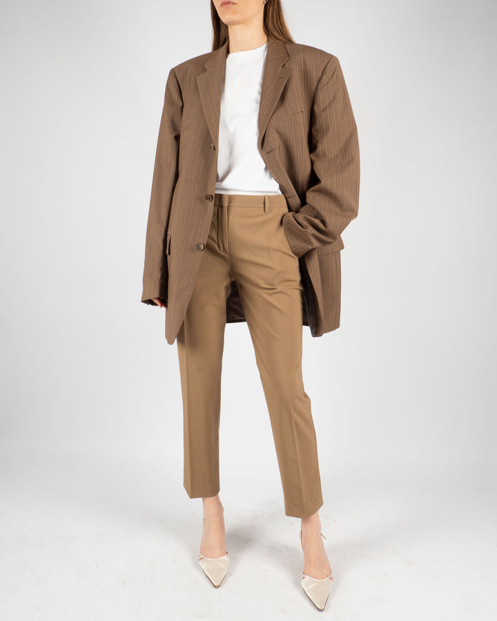 Theory Tan Trousers