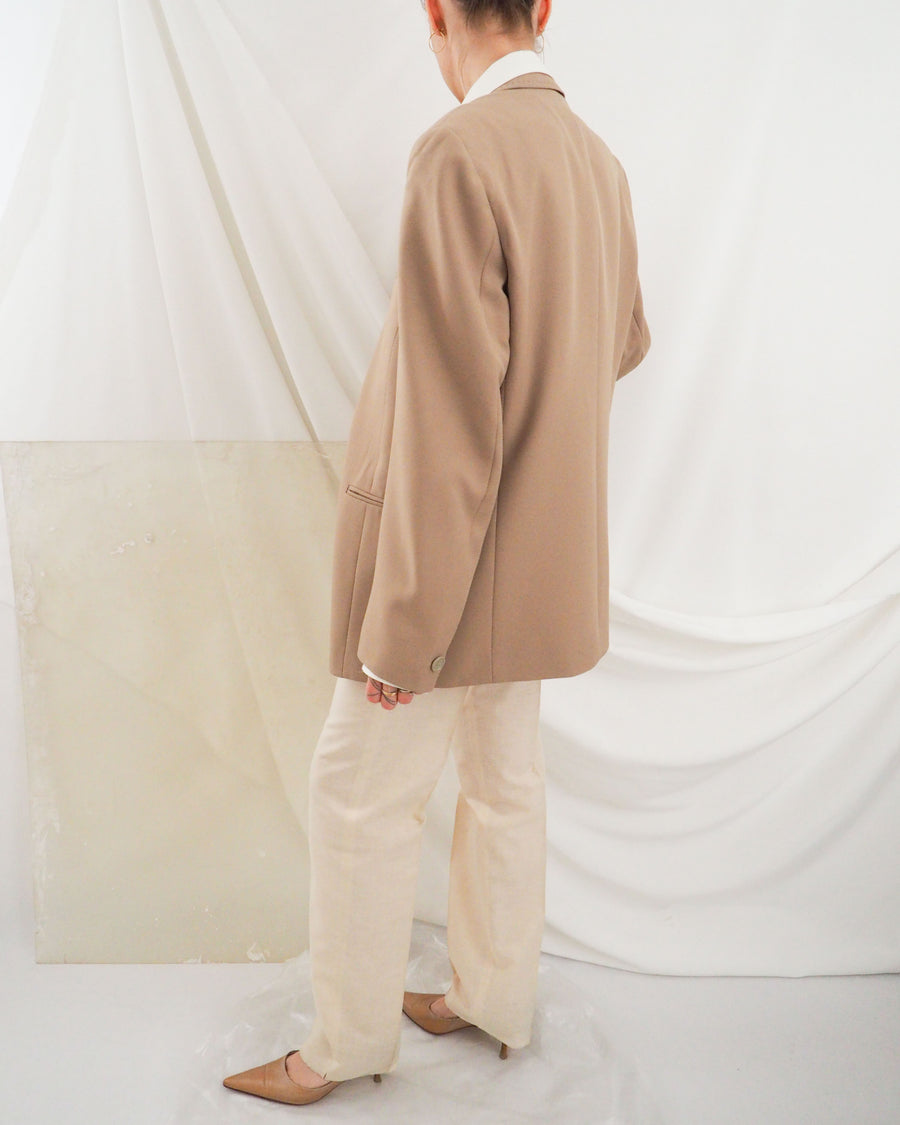 Beige Menswear Blazer - Untitled 1991
