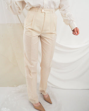 Cream Linen Trousers (new) - Untitled 1991