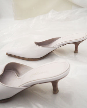 White Leather Mules - Untitled 1991