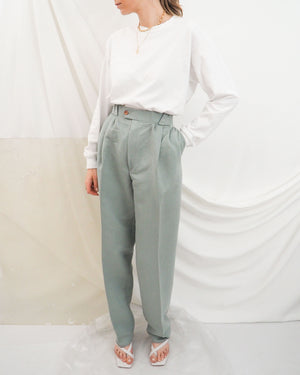 Mint Pleated Trousers - Untitled 1991