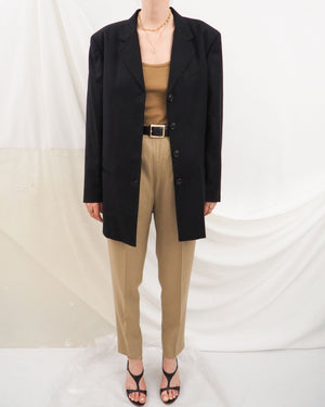 Black Wool Blazer - Untitled 1991