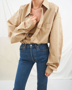 Tan Oversized Shirt - Untitled 1991