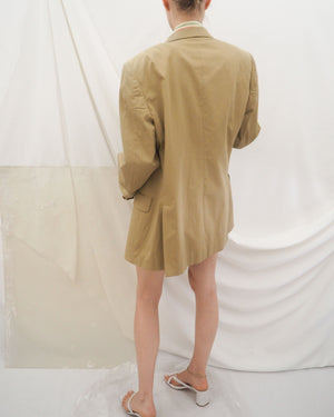 Tan Cotton Blazer - Untitled 1991