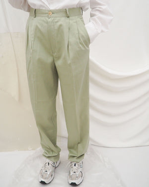 Pistachio Pleated Trousers (new) - Untitled 1991
