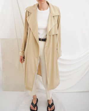 Beige Flowy Trench - Untitled 1991