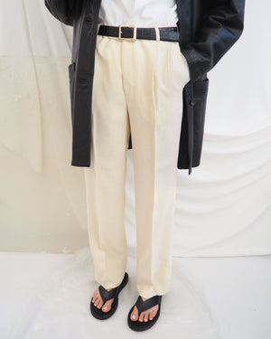 Cream Pleated Trousers - Untitled 1991