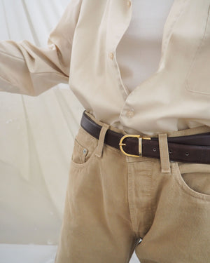 Brown Leather Belt - Untitled 1991