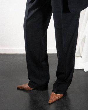 Midnight Pleated Trousers