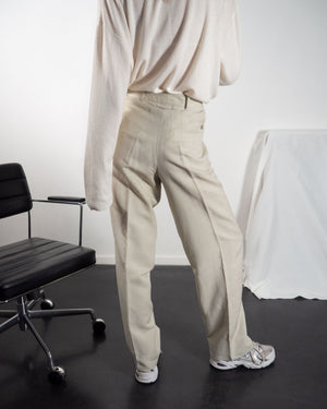 Ivory Linen Trousers - Untitled 1991