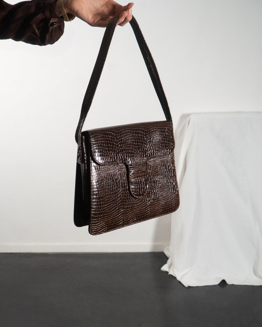 Croc Shoulder Bag
