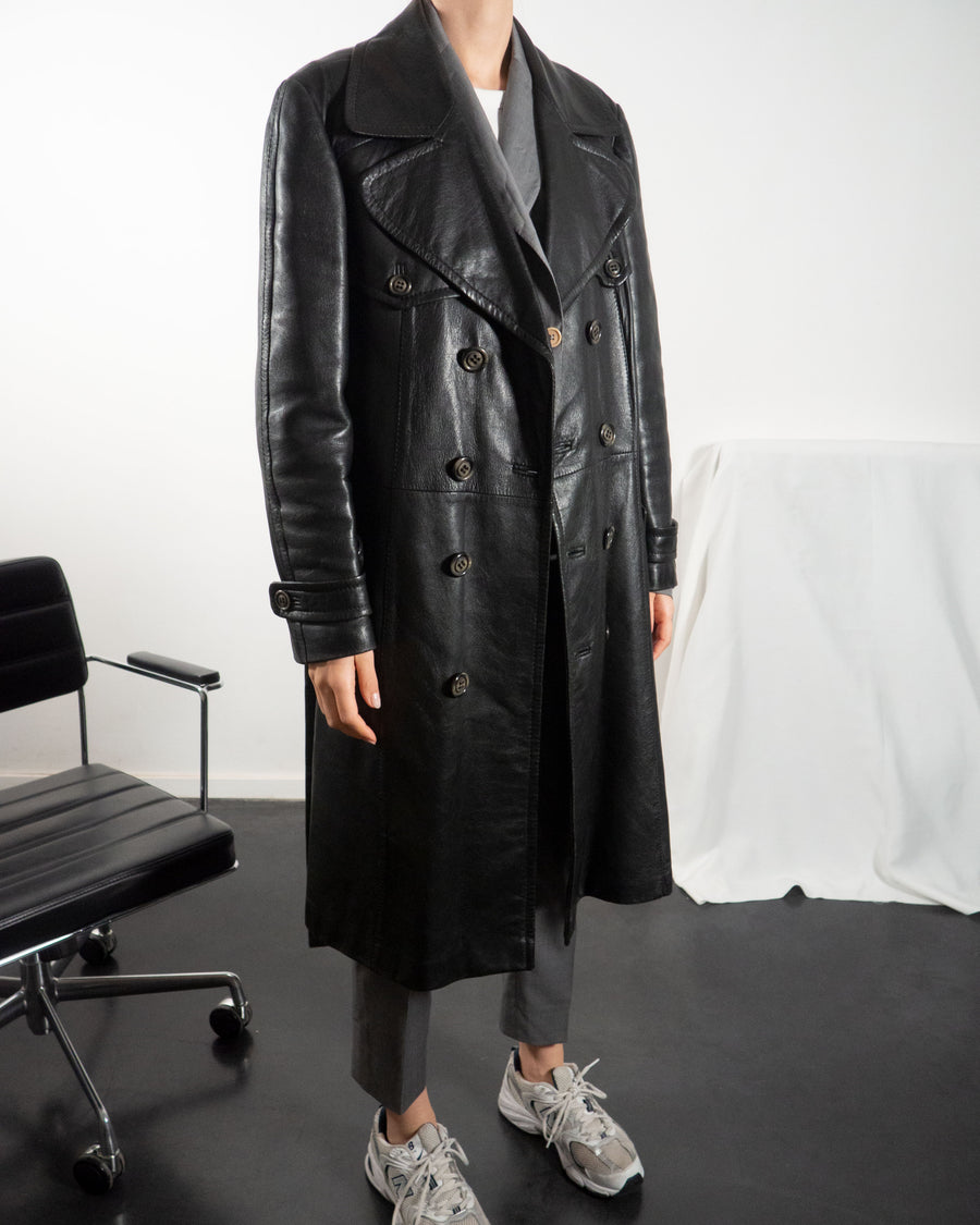 Black Leather Trench - Untitled 1991