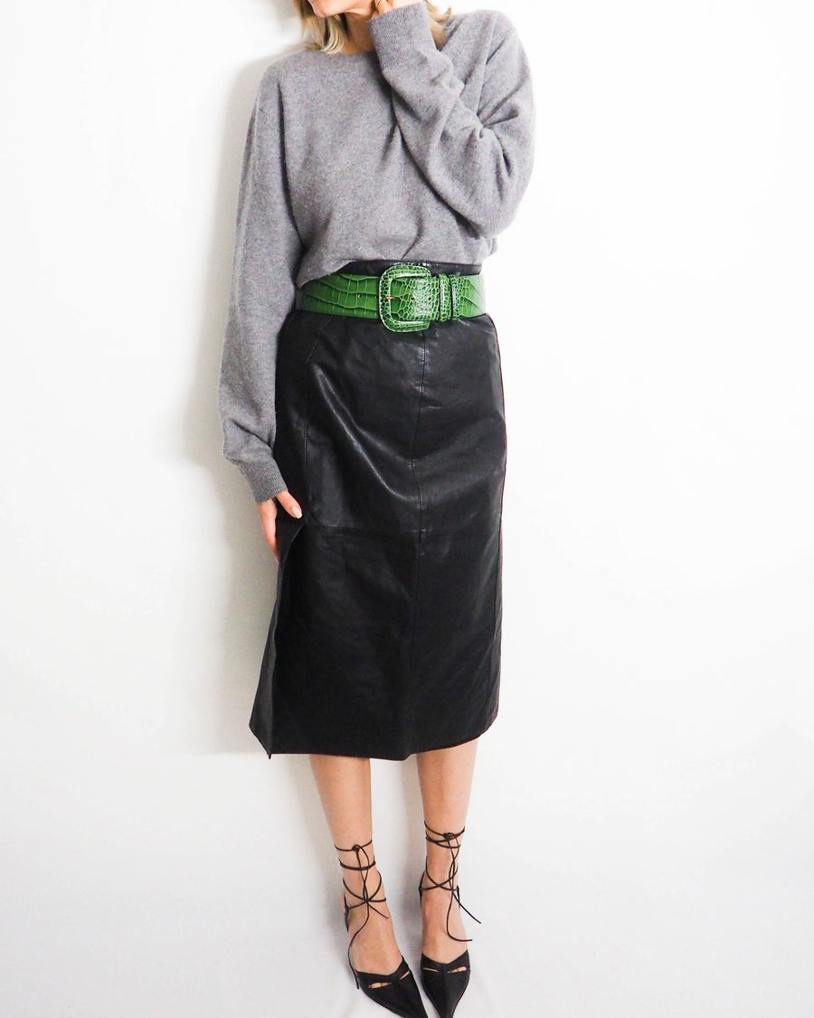 Leather Midi Skirt - Untitled 1991