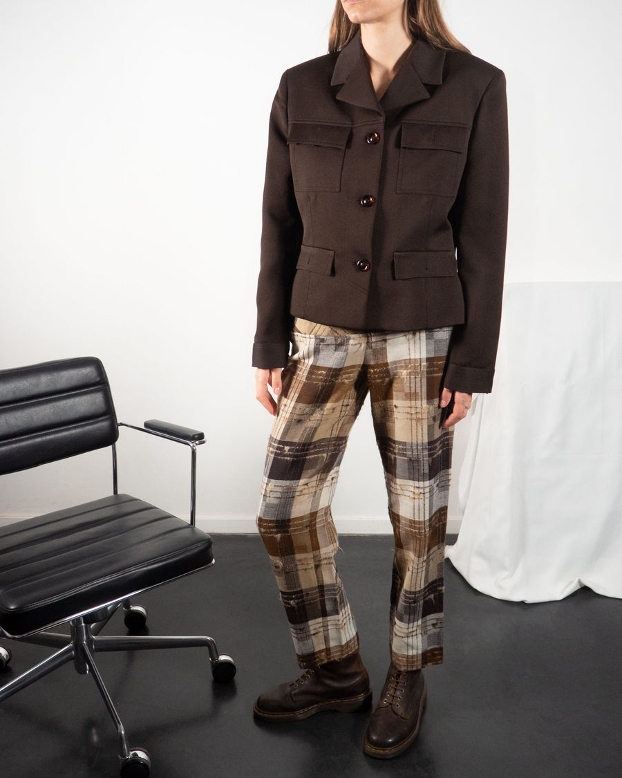 Trussardi Checked Trousers