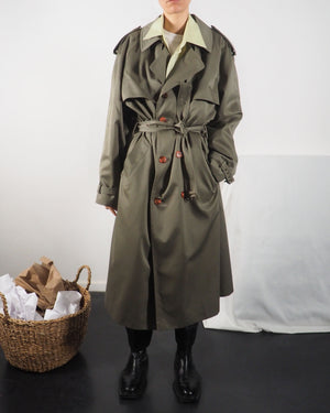 Khaki Green Trench