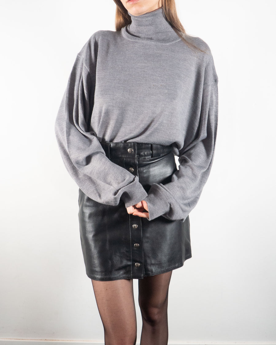 Gray Wool Turtleneck