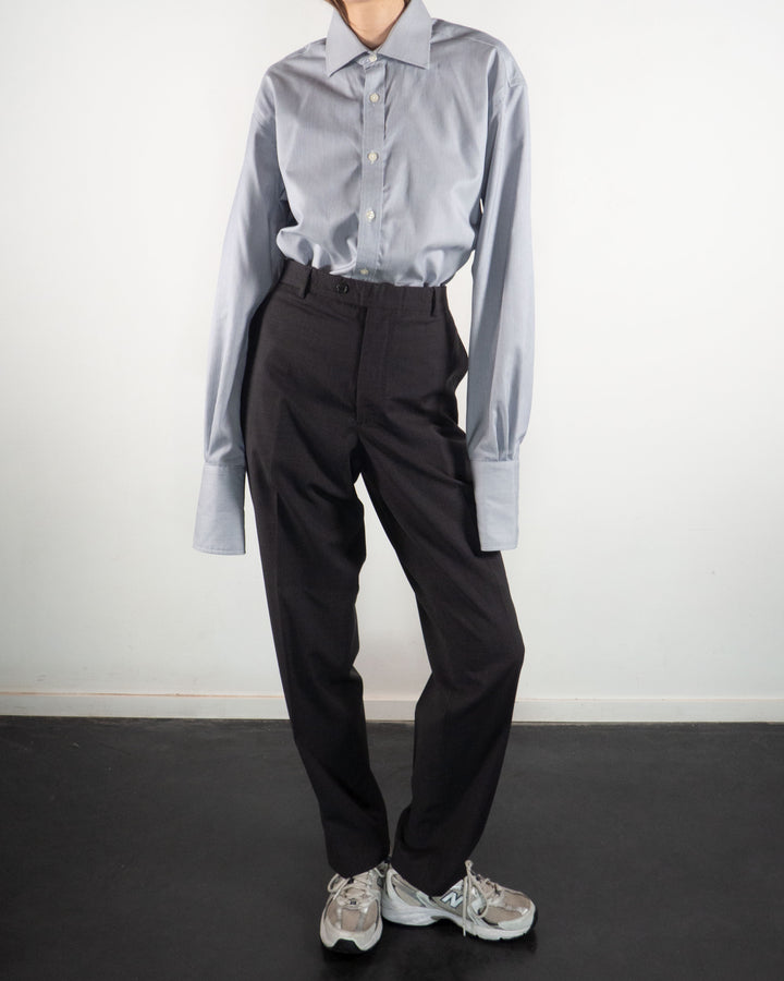 Anthracite Wool Trousers