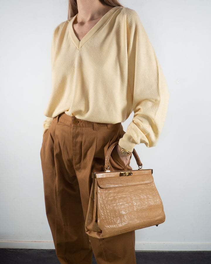 Camel Structured Bag