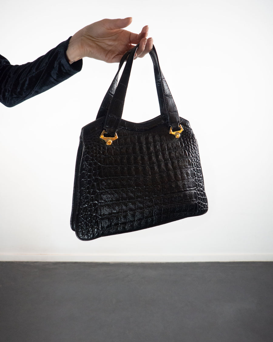Black Structured Bag