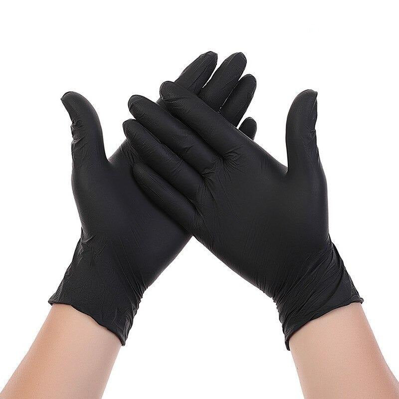 Faceshield® 100 Disposable Gloves - Black-Masks New Zealand | Free Shipping | Masks.co.nz