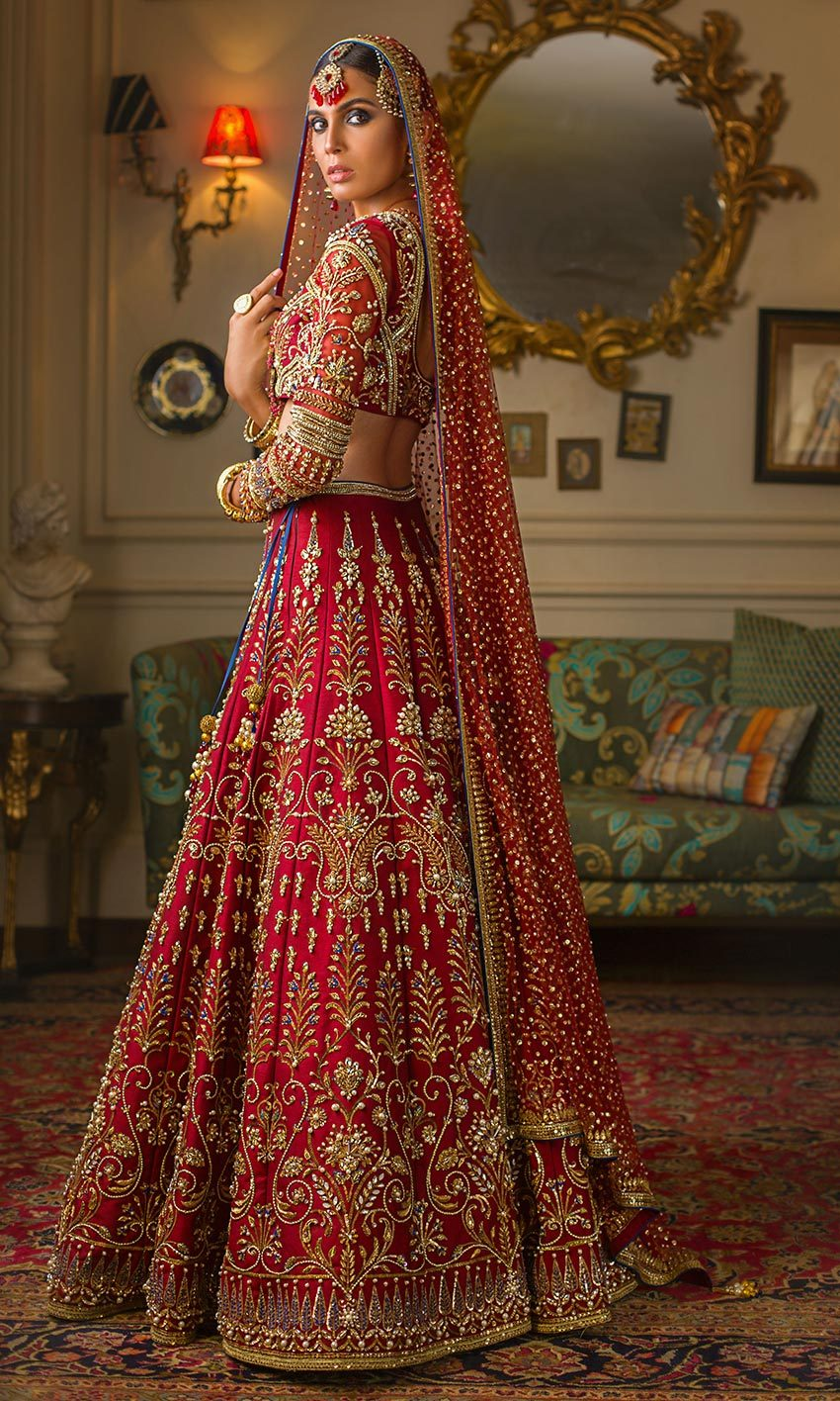 Buy Exclusive Designer Bollywood Trends Deep Red Color Wedding Lehenga Choli 25002
