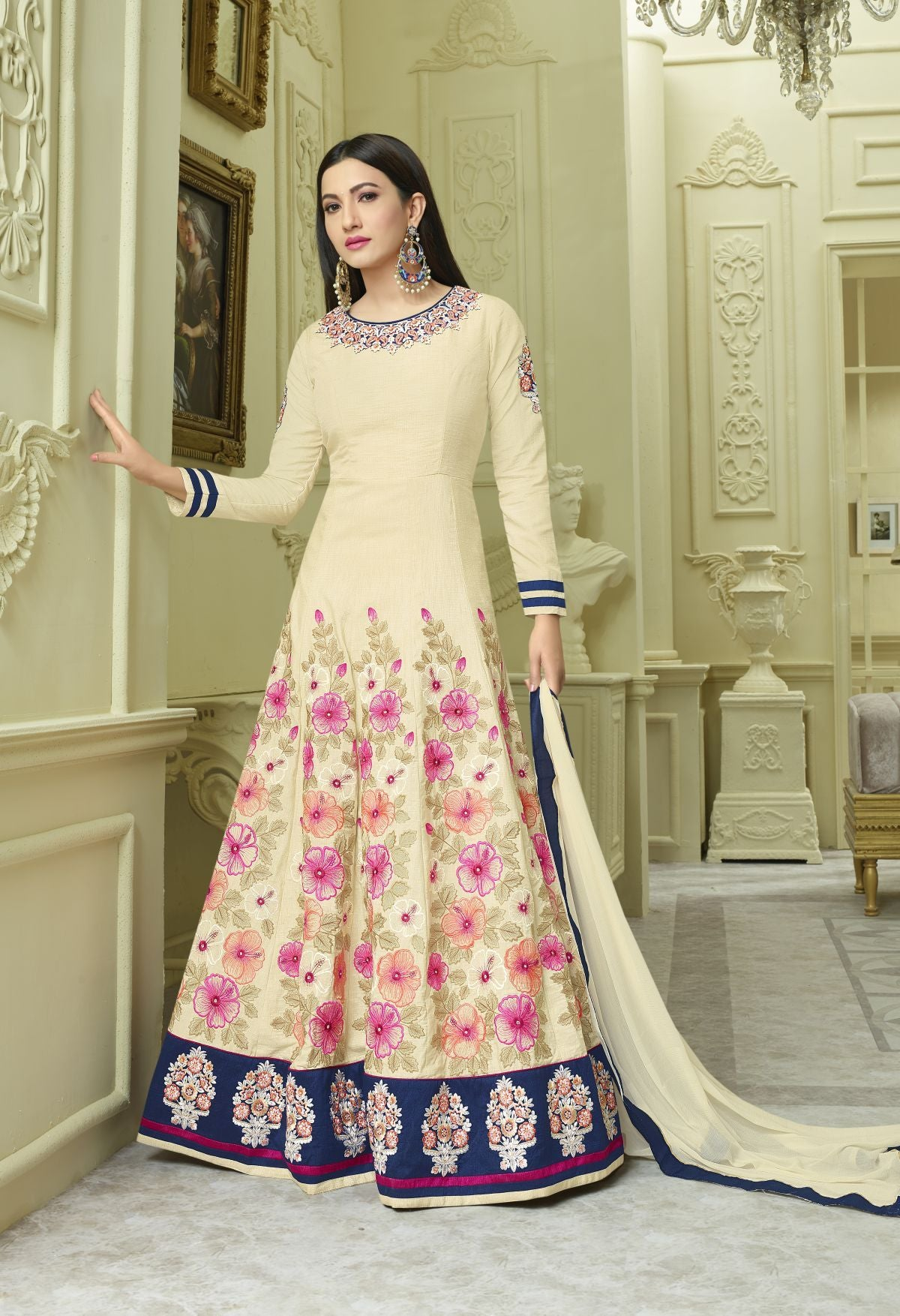 Shop Pastel Green Wedding Guest Charming Trendy Salwar-kameez 30040