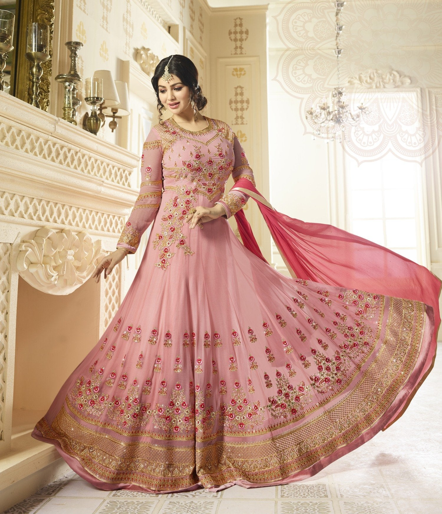 Buy Pink Indian Designer Charming Trendy Salwar-kameez 30052