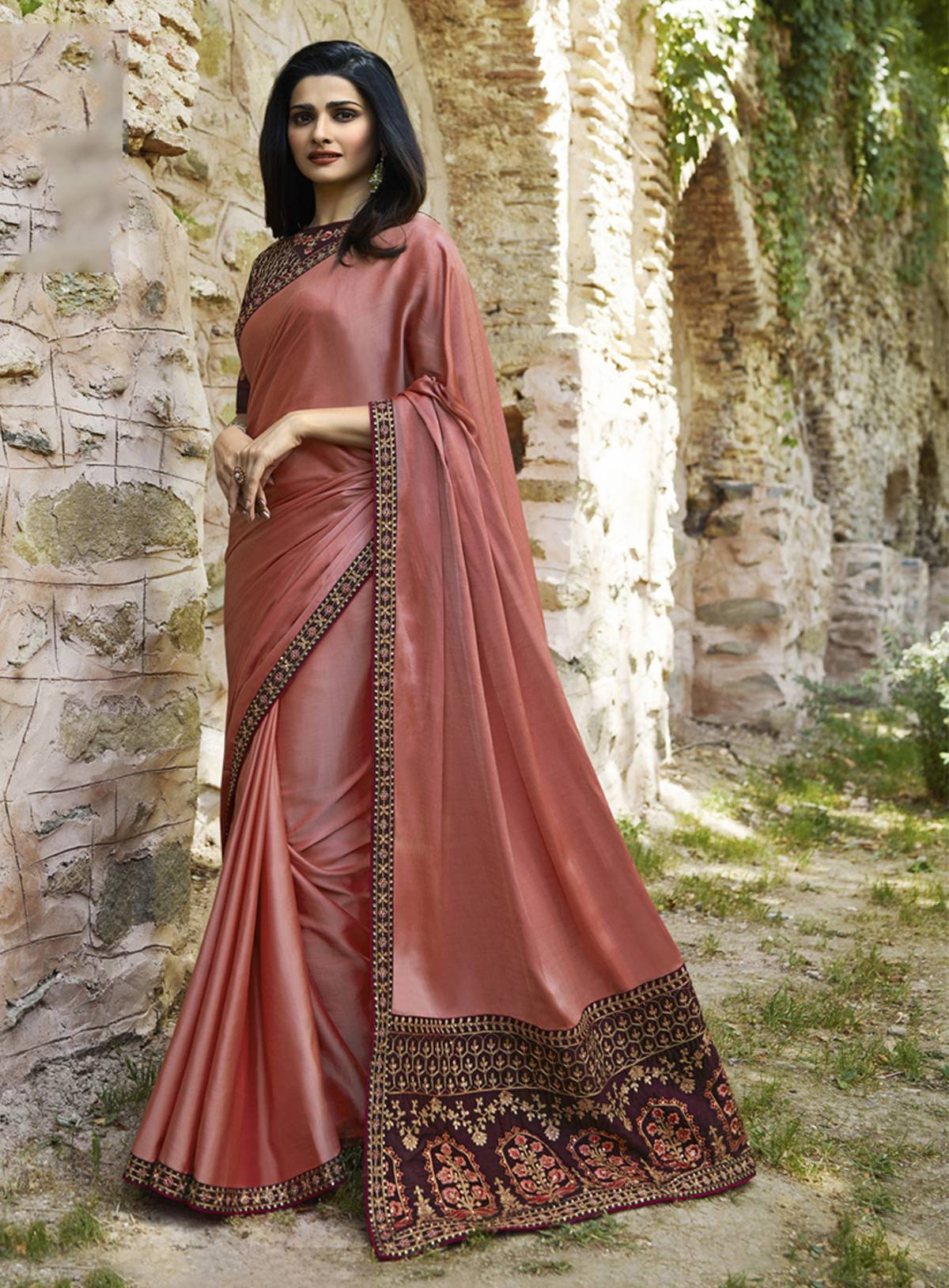 Heavy Work Trendy Saree  10419