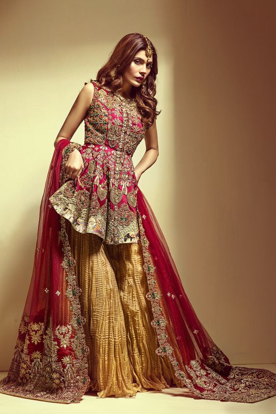 Buy Pakistani Garara Trends Bridal Party Salwar kameez 25028