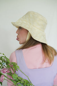 BOB x HANOM Vanilla Yellow CRÈME GLACÉE Bucket Hat With Chin Tie