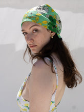 Load image into Gallery viewer, Vintage 70's Green Lagoon Scarf