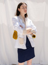 Load image into Gallery viewer, Vintage 90's Crème Au Café White Blazer (M)