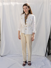 Load image into Gallery viewer, Vintage 90's Ralph Lauren White Linen Jacket (S)